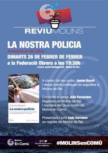 """Presentació llibre """"La Nostra Policia"""" de Jaume Bosch 26-02-2019"""