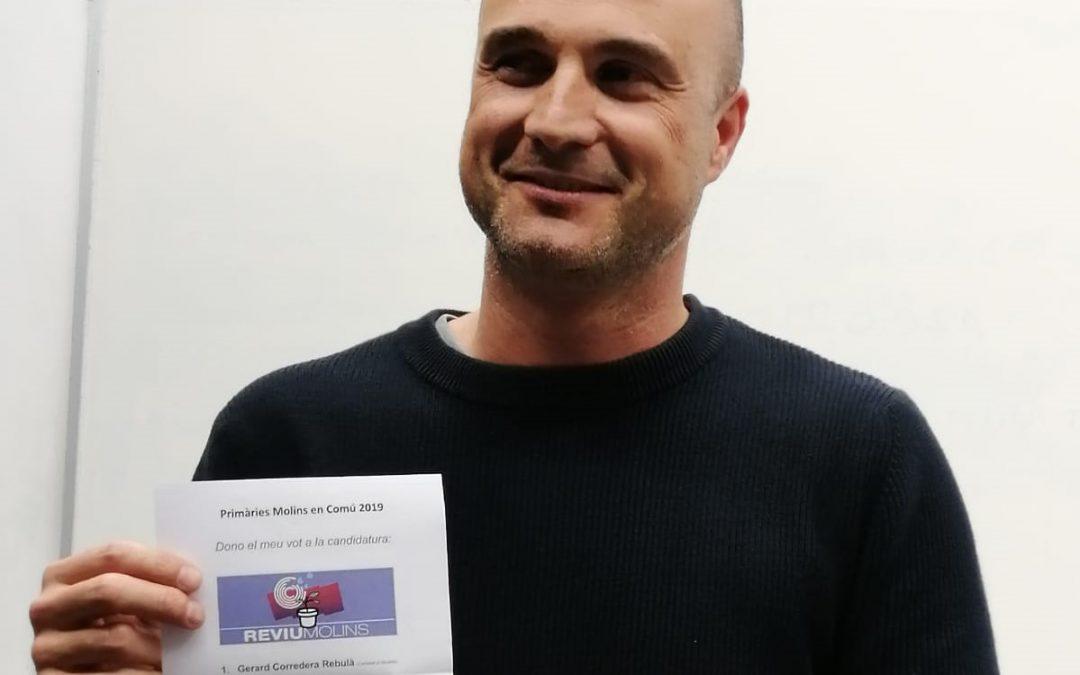 Gerard Corredera encapçalarà la candidatura a les municipals per Molins En Comú